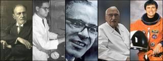 Juan Vucetich, Luis Miramontes, Arturo Arias, Jacinto Convit, Franklin Chang Díaz