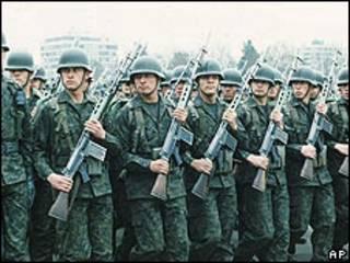 Soldados chilenos durante el régimen militar