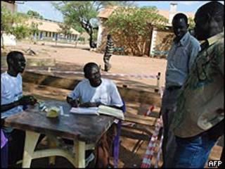 تسجيل ناخبين في جوبا
