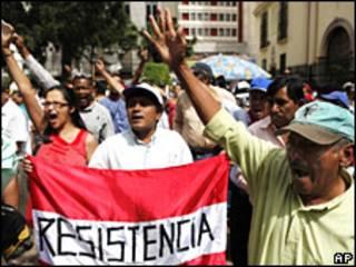 Protesta en Tegucigalpa