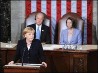 آنگلا مرکل در کنگره آمریکا