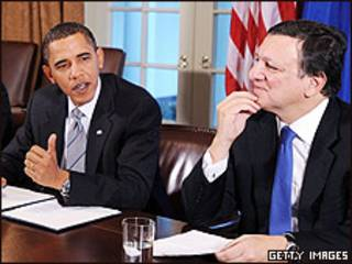 Barack Obama y Jose Manuel Barroso