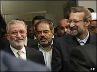 علی لاریجانی در بغداد با ایاد سامرایی، رئیس مجلس عراق