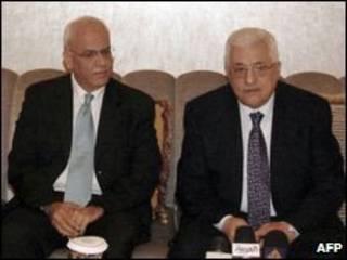 صائب عریقات و محمود عباس