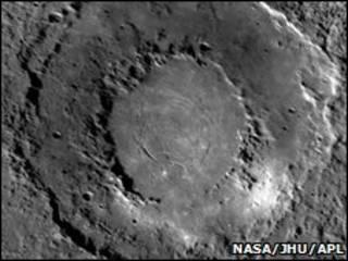 Imagen de Mercurio tomada por la sonda Messenger