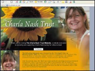 Site de doações para Charla Nash