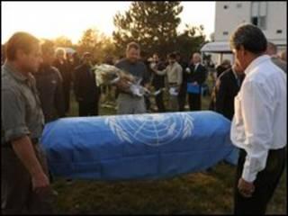 Funeral de funcionário da ONU morto no ataque em Cabul