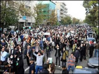 یکی از تجمع های 13 آبان در تهران
