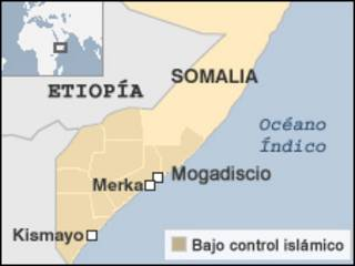 Mapa de Somalia