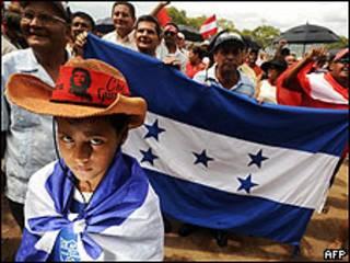 Partidarios de Manuel Zelaya en Tegucigalpa (Foto de archivo)
