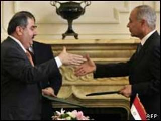 وزرای خارجه مصر و عراق در قاهره