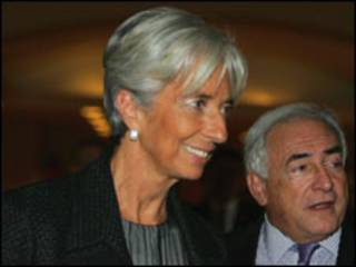 وزيرة المالية الفرنسية ومدير صندوق النقد الدولي