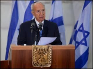 O presidente de Israel, Shimon Peres