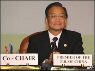 O primeiro-ministro chinês, Wen Jiabao