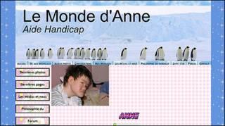 O site 'O Mundo de Anne' (foto: divulgação)
