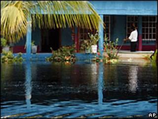 Inundación en Huimanguillo, en el estado mexicano de Tabasco