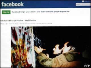 Página de Facebook de Sarkozy
