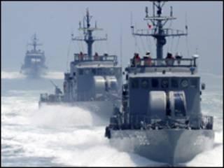 Patrullas marítimas de Corea del Sur