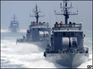 Patrullas de la armada de Corea del Sur (Foto de archivo)