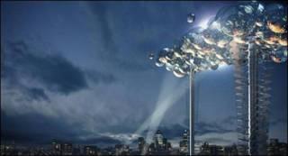 Imagen computerizada de la nube digital