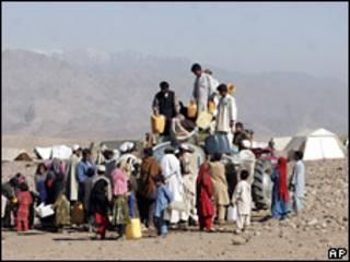 Desplazados internos afganos