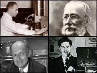 Humberto Fernández Morán, Carlos J. Finlay, Manuel Elkin Patarroyo y Guillermo González Camarena