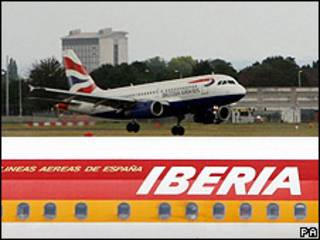 Aviones de Iberia y British Airways