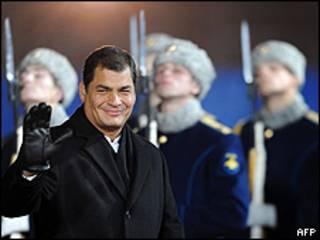 Visita de Rafael Correa a Rusia en octubre de 2009