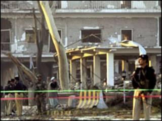 पेशावर में हुए एक धमाके की फ़ाइल फ़ोटो