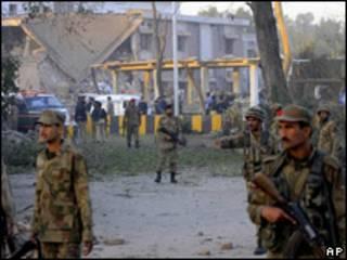 Sede de la agencia de Inteligencia paquistaní en Peshawar