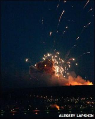 Взрывы в Ульяновске (фото Алексея Лапшина)