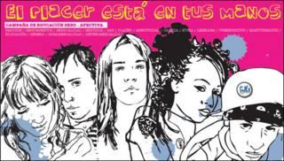 Cartel del taller de orientación sexual organizado por la Junta de Extremadura.