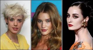 Agyness Deyn, Rosie Huntington-Whiteley y Erin O'Connor