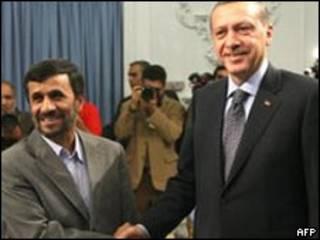 Líderes de Turquía e Irán