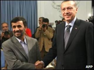 Реджеп Эрдоган и Махмуд Ахмадинежад