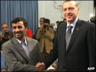رجب طیب اردوغان و محمود احمدی نژاد