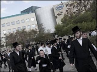 تظاهرات اسرائيل ضد انتل