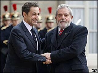 Nicolas Sarkozy y Luiz Inacio Lula da Silva