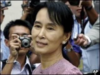 A líder oposicionista de Mianmar, Aung San Suu Kyi