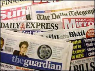 Jornais britânicos (arquivo)