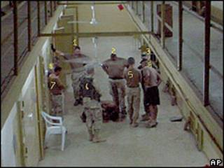 Foto tomada en Abu Ghraib.  Cortesía de Guy L. Womack