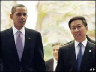 Ông Barack Obama và thị trưởng Thượng Hải Hàn Chính