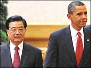 हू जिंताओ और बराक ओबामा