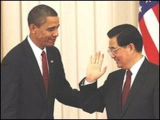 هو جین تاو و اوباما