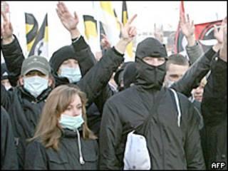 Акция националистов в Москве