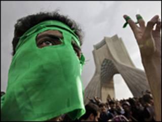 محتج إيراني