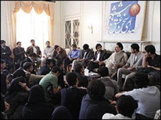 محمد خاتمی در دیدار با دانشجویان