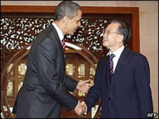 Barack Obama y Wen Jiabao