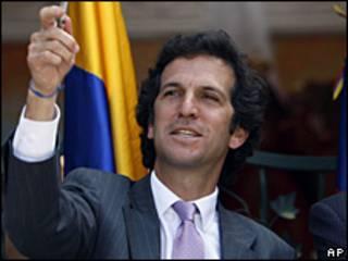 Jaime Bermúdez, canciller de Colombia.
