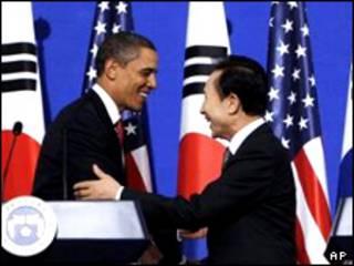 لی و اوباما